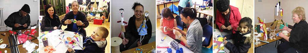 Adults & Children at Workshops - Crafting